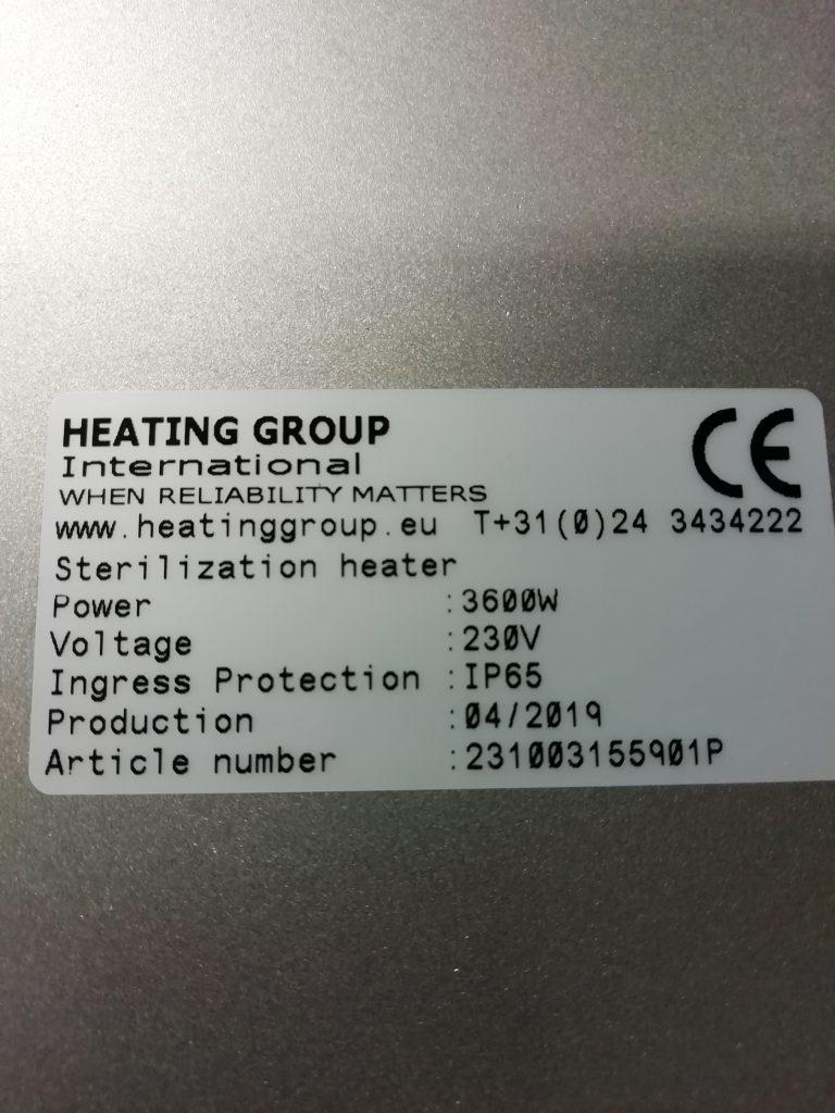 Heating Group sterilization heater